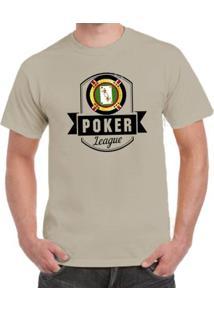 Camiseta Milá Poker Casual - Masculino-Bege