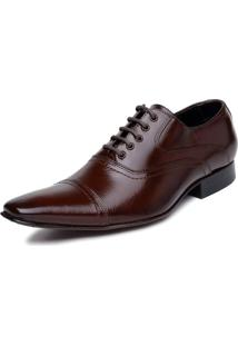 Sapato Bigioni Oxford Social Cadarço Sola Couro Marrom