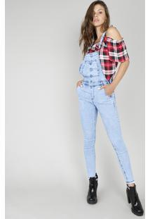 af88a3de8 R$ 149,99. CEA Macacão Jeans Feminino Com Barra Desfiada Azul Claro