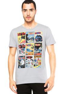 Camiseta Fashion Comics Batman Cinza