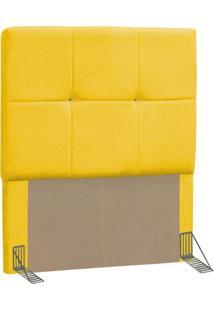 Cabeceira Solteiro 90 Cm Vênus Corino Amarelo - D'Monegatto