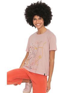 Camiseta Cantã£O Sirene Rosa - Rosa - Feminino - Algodã£O - Dafiti