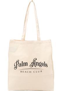 Palm Angels Beach Club Logo Tote - Neutro