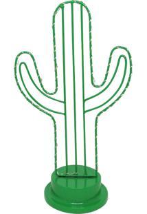 Luminária Aramada Cacto Verde
