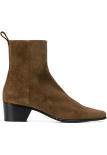 Pierre Hardy Ankle Boot De Camurça - Marrom