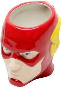 Caneca Porcelana Decorativa Mould Wb Jl Core Flash Vermelho Amarelo 14.8X9.4X10.3Cm 312Ml Urban