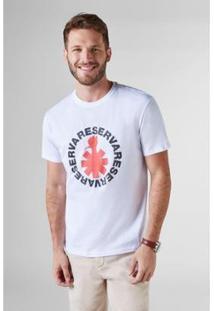 Camiseta Pica-Pau Asterisco Reserva Masculina - Masculino-Branco