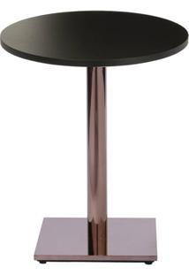 Mesa Colorado 70 Cm Tampo Redondo Preto Base Bronze - 37278 Sun House
