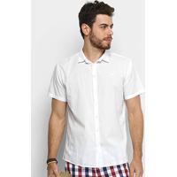 779ce2df2a Camisa Colcci Slim Manga Curta Masculina - Masculino-Branco