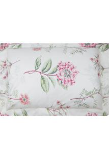 Fronha Estampada Percal 300 Fios - 100% Algodão - Home Collection - Appel - Floral Rosa