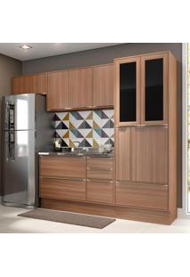 Cozinha Compacta 10 Portas 4 Gavetas 5453R Nogueira/Malt - Multimóveis