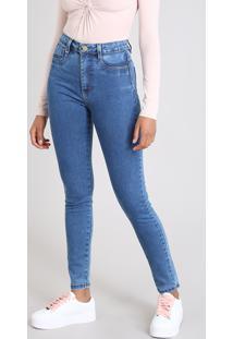 4e9bc21a8 CEA. Calça Jeans Feminina Sawary Super Lipo Super Skinny Azul Médio