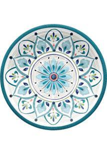 Prato Para Sobremesa Marrocos- Azul & Laranja- 2Xø22Hudson