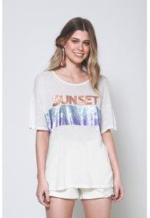 Blusa Sunset Degradê Oh, Boy! - Feminino-Off White