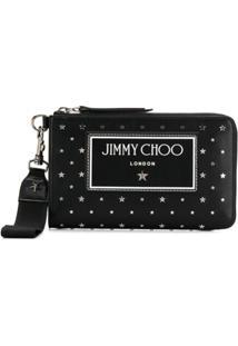 Jimmy Choo Clutch Com Tachas De Estrelas - Preto