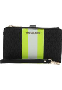 Carteira Michael Kors Pouches & Clutches Lg Zip Preto