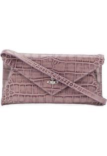 Vivienne Westwood Logo Plaque Clutch Bag - Rosa