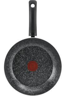 Frigideira Antiaderente Francesa 28Cm Rochedo Stone Preta