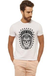 Camiseta Joss - Caveira Indio - Masculina - Masculino-Branco