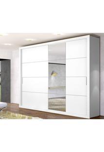 Guarda Roupa Casal Com 4 Espelhos E 2 Portas De Correr Essencial Zanzini Branco Artico