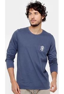 Camiseta Colcci Bolso Manga Longa Masculina - Masculino