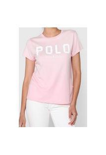 Camiseta Polo Ralph Lauren Logo Rosa