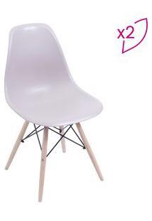 Or Design Jogo De Cadeiras Eames Dkr Fendi & Madeira Clara 2Pã§S