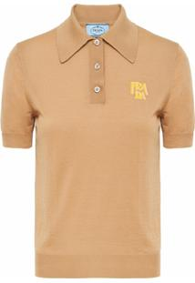 Prada Camisa Polo Com Logo - Neutro