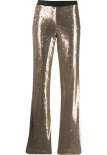 P.A.R.O.S.H. Calça Com Paetês - Dourado