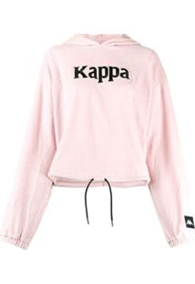 Kappa Drawstring Logo Hoodie - Rosa