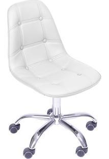 Cadeira Eames Botonê- Branca & Prateada- 93X47X41Cm