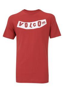 Camiseta Volcom Silk Pistol - Masculina - Vermelho