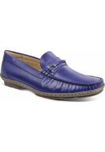 Sapato Masculino Loafer Sandro Moscoloni New Picasso Azul