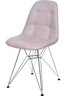 Cadeira Eames Botone Fendi Base Cromada - 43882 Sun House