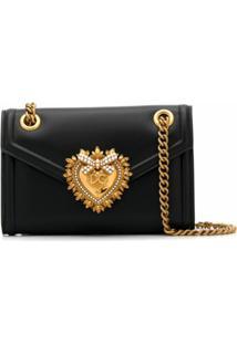 Dolce & Gabbana Bolsa Tiracolo Devotion Mini - Preto