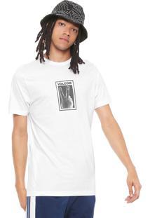Camiseta Volcom Peace Off Branca