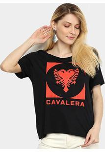 Camiseta Cavalera Tee Square Aguia Gel Feminina - Feminino-Preto
