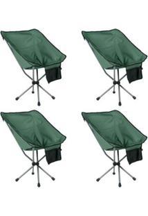 Kit 4 Cadeiras Dobráveis Para Camping Guepardo Joy - Unissex