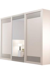Guarda Roupa Supreme 3 Portas Com Espelho Branco