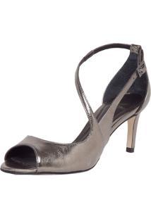 Sandália Dumond Assimétrica Prata Velha