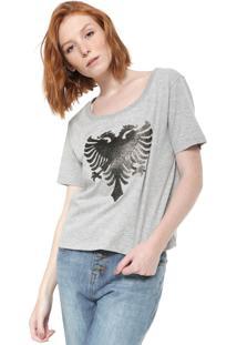 Camiseta Cavalera Estampada Cinza