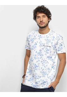 Camiseta Bulldog Fish Masculina - Masculino-Off White
