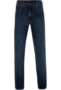 Calça Jeans Pierre Cardin Denim Malha Stone - Masculino-Marinho