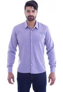 Camisa Slim Fit Live Luxor Lilás 2112 - P