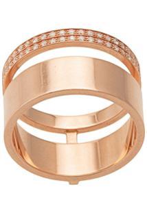Repossi Anel De Ouro 14K Com Diamante - Dourado