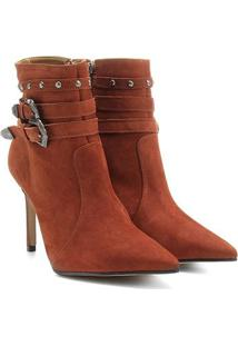 Bota Couro Country Shoestock Bico Fino Feminina