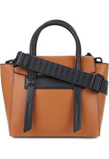 Bolsa Colcci Handbag Lisa Alca Larga Feminina - Feminino-Caramelo