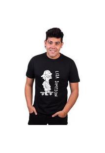 Tshirt Basica Algodão Lisa Simpsons Skate Feminina Preço Baixo