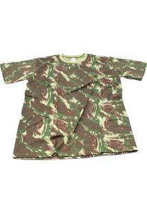 Camiseta Camuflada Exército Brasileiro Manga Curta V2