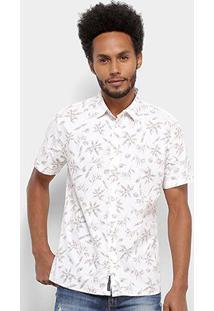 Camisa Colcci Estampada Classic Masculina - Masculino-Branco